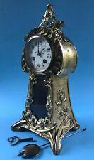 Jugenmdstil Bronze Pendule Kaminuhr Tischuhr Mantle Clock Japy Freres Paris~1900