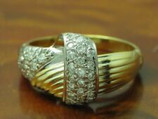 18kt 750 Yellow Gold Ring 0,34ct Brilliant Decorations/ Diamond/ 7,3g/ Rg 58