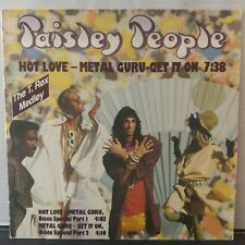 "Paisley People – Hot Love - Metal Guru - Get It On (Vinyl 12"", Maxi 45 Tours)"