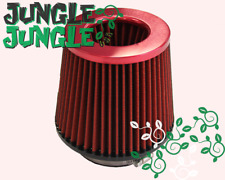 4-Inch Dry Cone-Style Performance Air Filter for Cold and Short Ram Intakes Red
