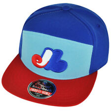 MLB American Needle Montreal Expos Ante Snapback  Flat Bill Hat Cap Sports Blue