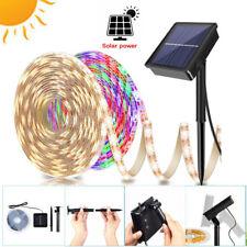Flexible LED Waterproof Solar Powered Porch Light Strip Garden Party Xmas Decor