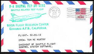 a471 RAUMFAHRT/ USA NASA Flight Center Digital F-8 Fly-by-Wire Beleg aus 1977