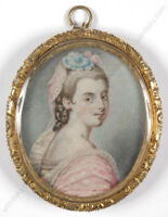 """""""Portrait of a Lady"""", miniature, mid 19th century"""