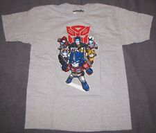 TRANSFORMERS MENS T-SHIRTS LARGE OPTIMUS PRIME RATCHET JAZZ BUMBLE BEE AUTOBOTS!