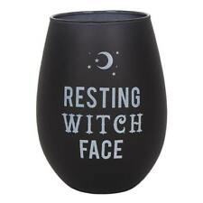 Witch Stemless Wine Glass Resting Witch Face Mug Witches Brew Mystic Wicca