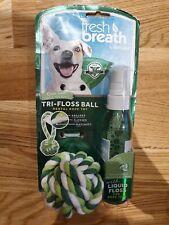 TROPICLEAN CLEAN TEETH FRESH BREATH BALL + LIQUID NO BRUSHING! DOGS & CATS!