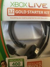 XBOX LIVE 12 MONTH GOLD STARTER KIT HEADPHONES ONLY!!! NEW HEADSET ONLY!!!!