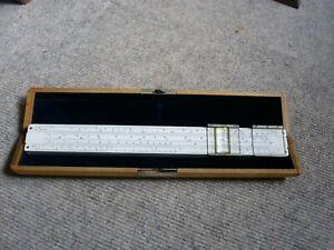 Rechenschieber Albert Nestler  No. 37  ELECTRO, mit Lupenläufer und Holz-Etui