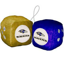 Baltimore Ravens Fuzzy Dice NFL Football Team Logo Plush Car Truck Auto