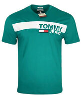 Tommy Hilfiger Men's Crew Neck Cotton Tommy Jeans T-Shirt - Regular Fit - Green