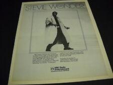 STEVIE WONDER is havig an NBC Album Party original 1985 PROMO POSTER AD mint