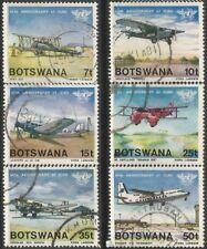 BOTSWANA 1984 INTL CIVIL AVIATION ORG 40th ANNIV Sc#349-54 COMPLETE VFU SET 0948