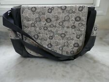 Graco Gray Circles Pocket Magnet Tote Diaper Bottle Bag