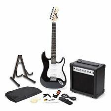 RockJam RJEG01-SK-BK Full Size Electric Guitar Superkit with Guitar Amplifier