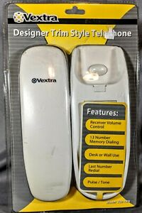 Vextra Designer Trim Style Telephone Corded White 238-1BN Sealed New Phone Cord