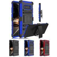 For Samsung Galaxy Note 8 Armor Holster Belt Clip Kickstand Shockproof Box Case
