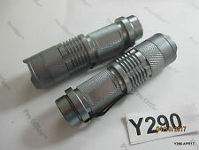 2 QTY 1200LM Mini CREE Q5 LED Flashlight Torch Adj. Focus Zoomable Light Lamp AA