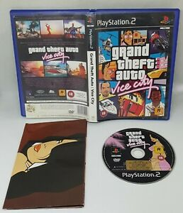SONY PS2 GAME GRAND THEFT AUTO VICE CITY PLAYSTATION 2 + MAP NO MANUAL 18+