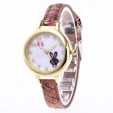 "⌚ Girls / Ladies GOLD AND WHITE "" BUNNY RABBIT "" Cartoon Wristwatch ⌚ UK SELLER"