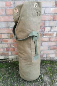 Genuine British Army Issue Vintage Heavy Duty Canvas Deployment Duffle Kit Bag