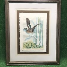 "Original Huge Woodhead Mallard Duck 37"" X 45""  Embossed Sculptured Art Painting"
