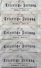 5 x Trierische Zeitung 1820 - Trier -Juden in Frankfurt -Karneval -Sklavenhandel