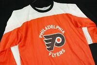 Vintage 70s Philadelphia Flyers Hockey Jersey Champion Blue Bar NHL Orange Shirt