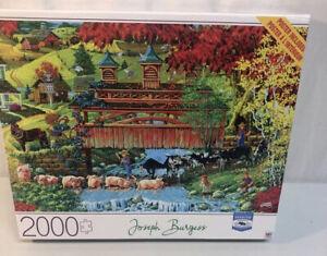 2000 Piece Jigsaw Puzzle By Joseph Burgess 'Washday Bridge' from MB Cardinal EUC