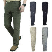 Mens Trousers Casual Overalls Tactical Cargo Pants Waterproof Trousers