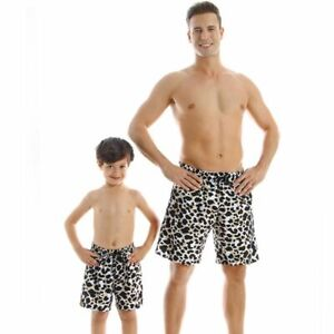 Father Matching Swimsuit Shorts Son Boy Men Summer Beach Swimming Family Clothes