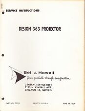BELL & HOWELL SERVICE MANUAL: 363 PROJECTOR - 1959