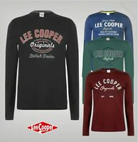 Mens Lee Cooper Crew Neck Top Long Sleeve Vintage T Shirt Sizes from S to XXXXL