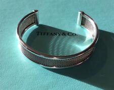 Tiffany & Co. Sterling Silver Woven Mesh Cuff Bangle Bracelet