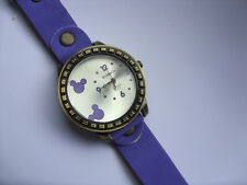 Smart Adults Mickey // Minnie Mouse Quartz Watch Purple Leather Strap