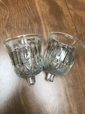 Set of 2 Clear Glass Valencia Votive Cup Candle Holders Homco Home Interior