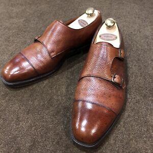EDWARD GREEN Westminster Double Monk Strap Shoes Size UK9/US9.5 Pebble 606 Last