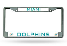 NFL Miami Dolphins Chrome License Plate Frame Thin Letters