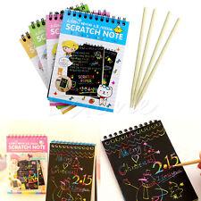 Creative DIY Black Cardboard Draw Sketch Notes Kids Toy Notebook School Supply