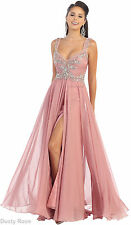 NEW FLOWY LONG DRESS FORMAL DANCE PARTY CLASSY EVENING GOWNS PAGEANT & PLUS SIZE