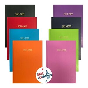 2021-2022 A5 A4 Day to Page Week to view Academic Diary School Year Hardback