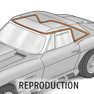 1963-1967 Corvette C2 Convertible Top Weatherstrip 10 Piece Kit 644489