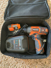 RIDGID 12-Volt Lithium-Ion 3/8 in. Cordless 2-Speed Drill Kit With 2 Batteries