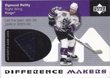 ZIGMUND PALFFY 2002-03 UD Upper Deck JERSEY Difference Makers HTF Card! LA Kings