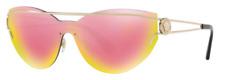 Versace Damen Sonnenbrille VE2186 1252/4Z verspiegelt gold monoscheibe H