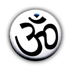 Badge Ohm zen cool peace love tranquility namaste tibet kawaii pin button Ø25mm