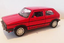 Volkswagen Golf 1 GTI Red Classic Die Cast Model 1:38 Scale Car - NEW