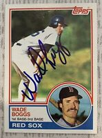 Wade Boggs SIGNED 1983 Topps Rookie Card #498 PSA/DNA RED SOX CERTIFIED HOF