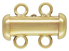 14KT 14/20 Gold Filled Tube 2 Row Clasps 4.3mm x 15mm. 1 Pieces ~35802R~