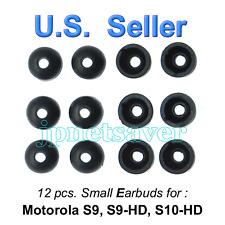 12 small Motorola S9 S9-HD S10-HD replacement earbuds - Motorokr eargel eartips
